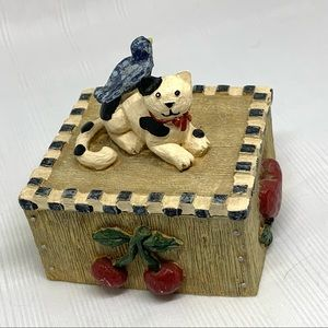 Vintage Fugi Graphics Kitty Cat Trinket Box